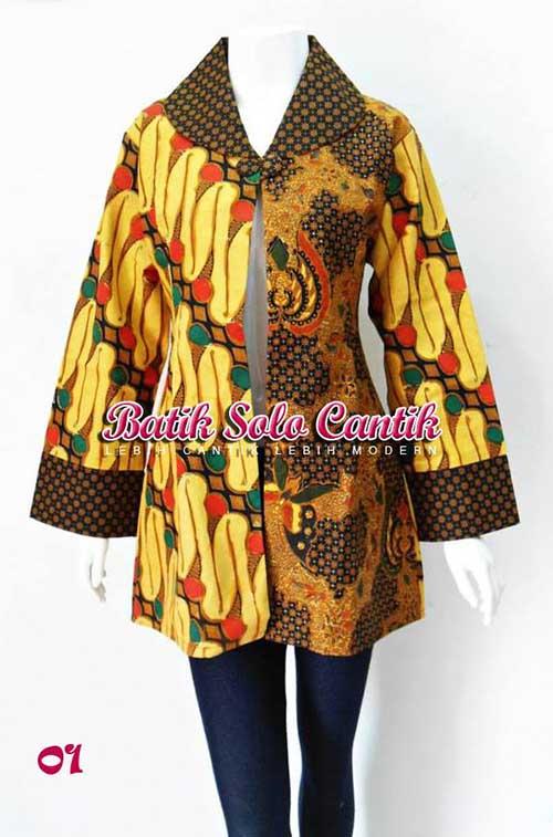 blazer batik sogan