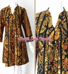 Baju batik sogan model terbaru