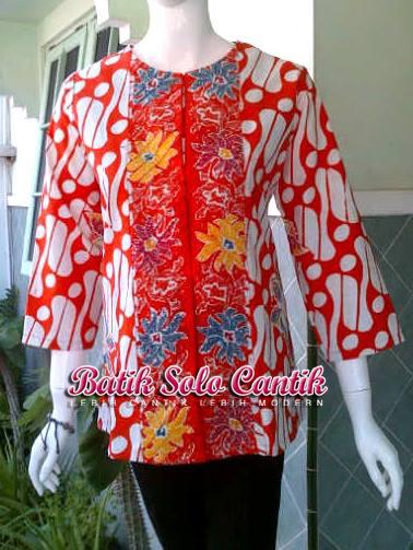 blouse batik model opnaisel motif parang
