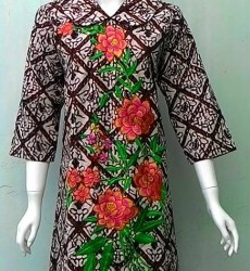 DRESS BATIK TULIS KOMBINASI BORDIR