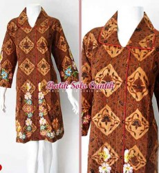 DRESS BATIK SOGAN GENES BORDIR