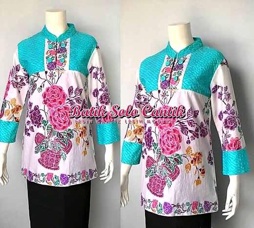 Baju Embos Kombinasi Batik: MODEL BATIK ENCIM KOMBINASI EMBOS