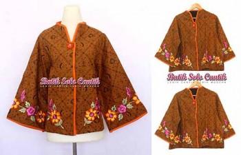 baju kerja batik modern baju kerja wanita terbaru batik solo cantik ...