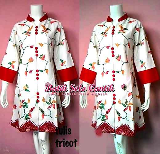 BATIK TULIS MODEL DRESS BATIK SOLO