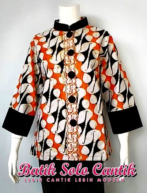 batik solo motif parang barong model blus