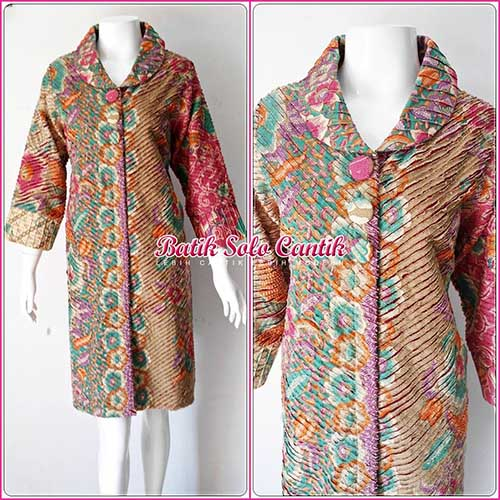 DRESS BATIK SOLO MODEL CACAH IRIS