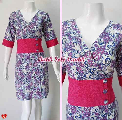 BAJU BATIK WANITA MODEL DRESS